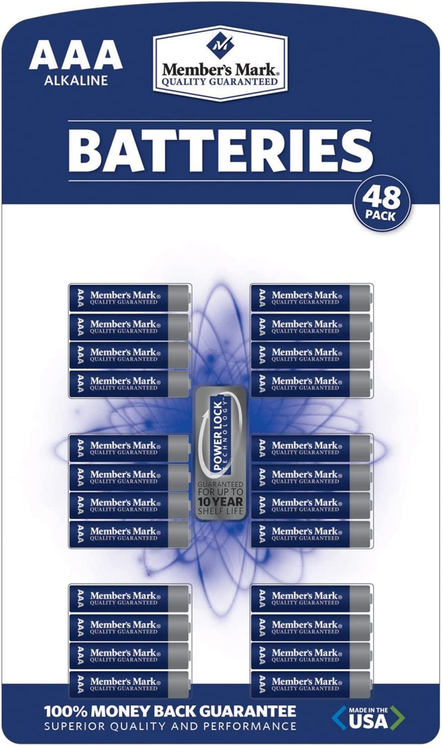 Members Mark AAA Alkaline Batteries 48 pk.
