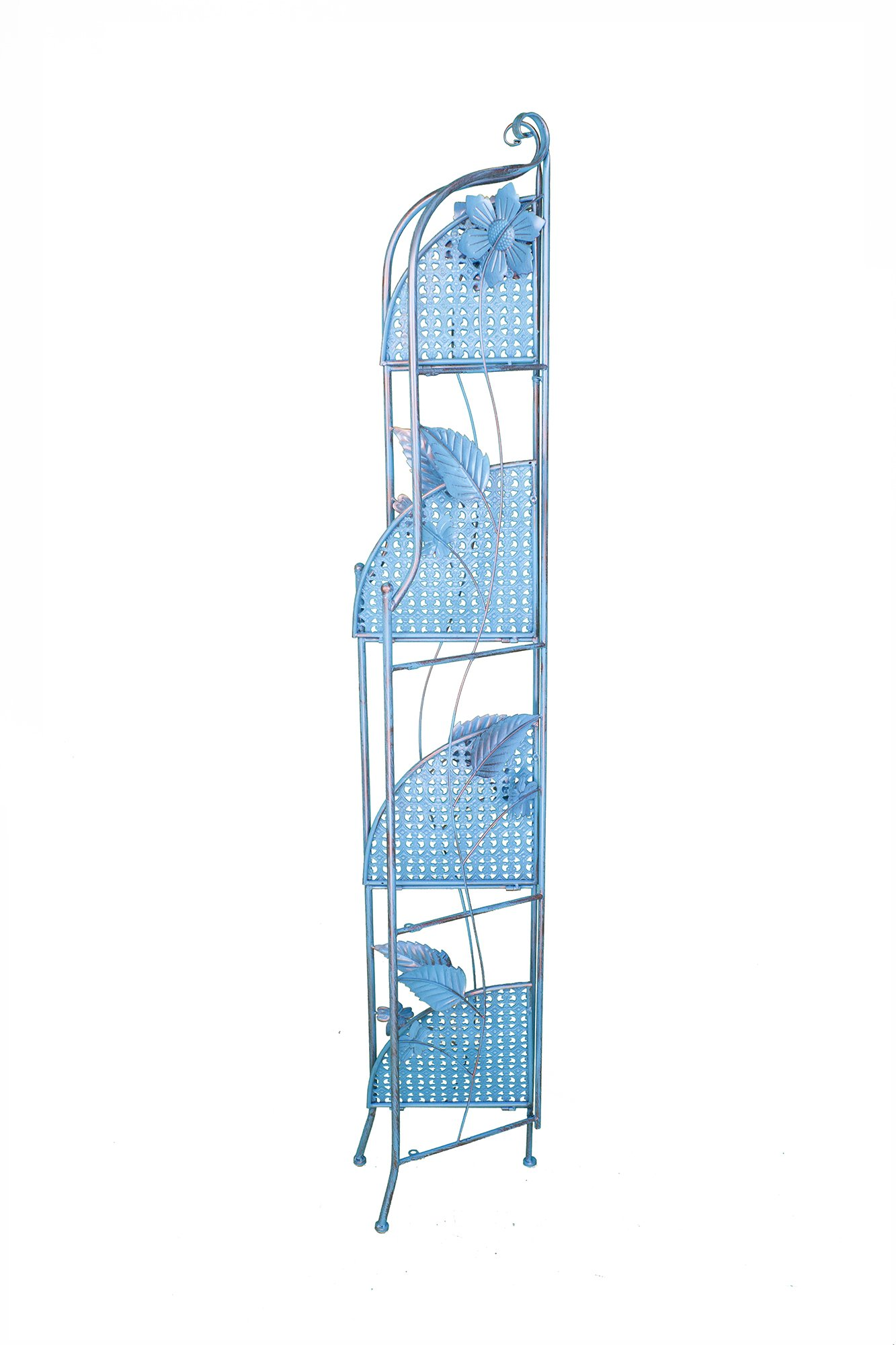 Heather Ann Creations W190799-BC Sunny Kitchen Corner Bakers Rack, Blue Copper by Heather Ann Creations (Image #3)