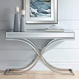 Furniture of America Sofa Table, Chrome
