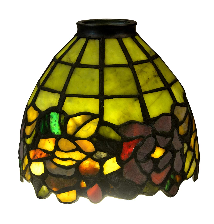 Tablelampe De D'agate Pierre Lecturependentif Style Tiffany Ybvgf76y