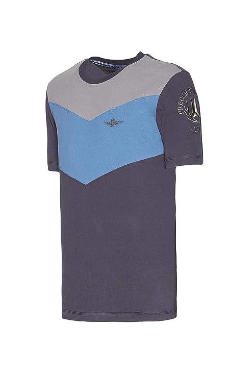 Aeronautica Militare T-Shirt TS1645, Azul Cielo, Flechas ...