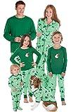 PajamaGram Let It Snow, Man! Matching Family Pajama Set, Green