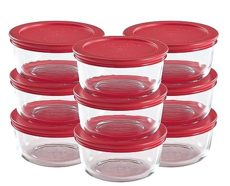 Pyrex 18 Piece Glass Food Storage Set With Lids