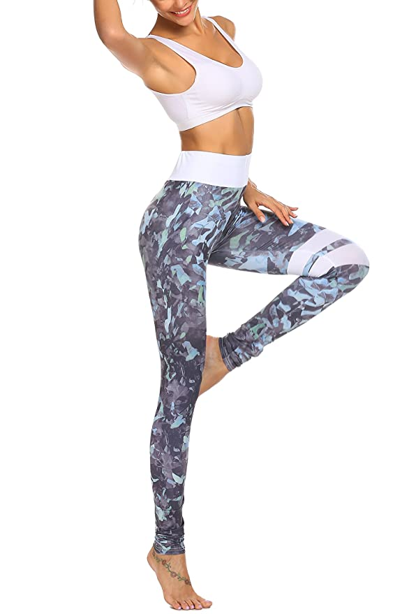 37ecc5ea4f4788 Parabler Damen Blumenmuster Leggings Hosen Pants Yoga Workout Fitness  Sporthose: Amazon.de: Bekleidung