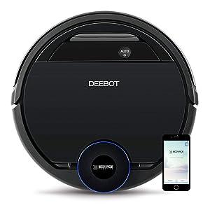 ECOVACS DEEBOT OZMO 930, Smart Robotic Vacuum, Carpet, Bare Floors, Pet Hair + Intelligent Mapping, OZMO Mopping Technology, Adaptive Floor Sensing Technology, with Alexa (Renewed)