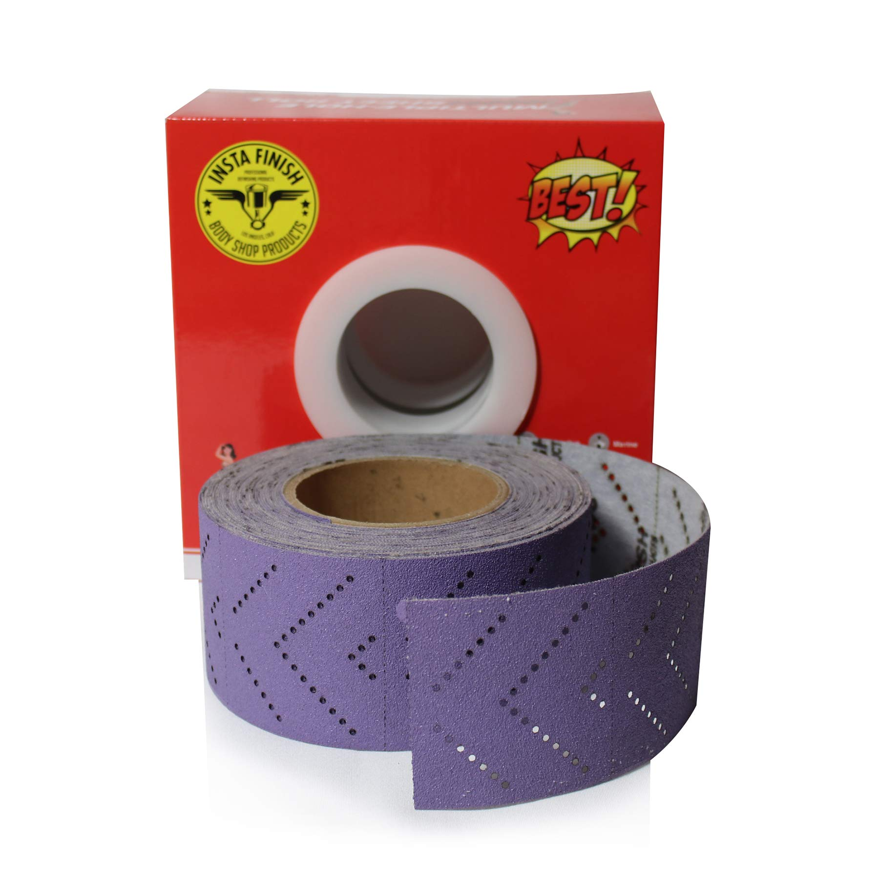 Insta Finish Sand Paper Hook & Loop Long Board (Continuous roll) 1 Roll Per Box (80 Grit) by Insta Finish