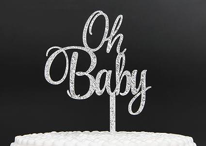 Amazon.com: firefairy (TM) Oh Baby Plata Decoración para ...