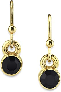 product image for 14K Gold Dipped Round Crystal Wire Drop Earring