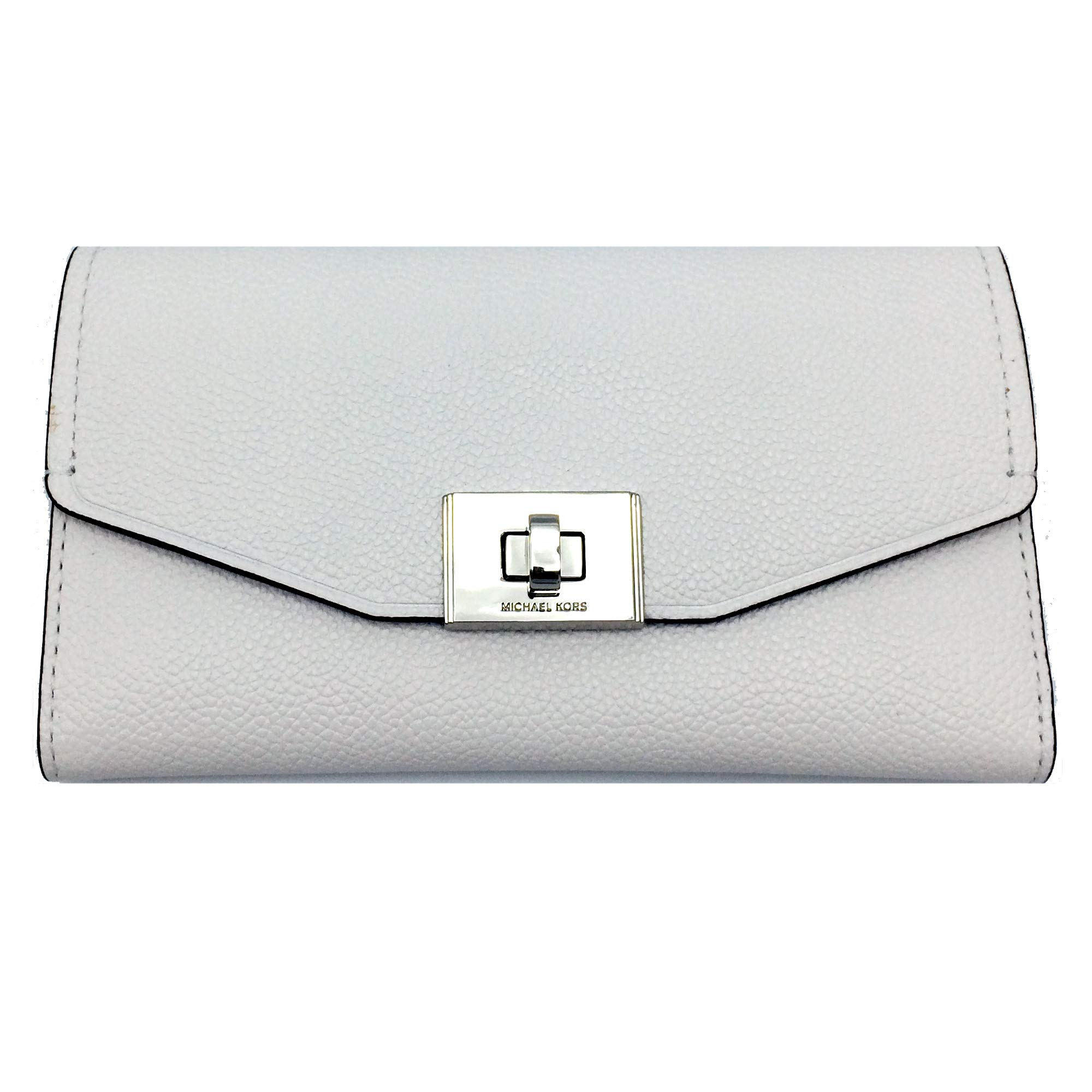 Michael Kors Cassie Large Trifold Wallet (White)