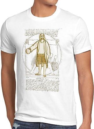style3 Dude de Vitruvio Camiseta para Hombre T-Shirt el Nota Lebowski Bowling: Amazon.es: Ropa y accesorios