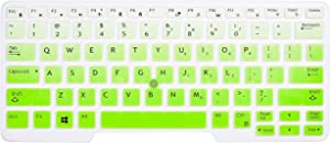 "CaseBuy Keyboard Cover Compatible with Dell Latitude 5480 5490 5491 7490 14"" Laptop, Dell 3340 E3340 E5490 E5491 E5450 E5470 E7450 E7470 7480 E7480 14"" Protective Skin with Pointing, Ombre Green"