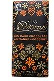 Divine Chocolate 70% Dark Chocolate with Mango and Coconut Bar, 3.5 Ounce