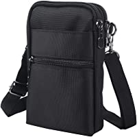 Crossbody Cell Phone Bags w/RFID Blocking-Casual Water Resistant Nylon Fanny Pack/Waist Phone Purse Pouch fits iPhone 6…