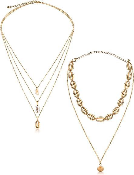 Bohemian Sea Shell Conch Pendant Necklace Collar Choker Beach Charm Jewelry