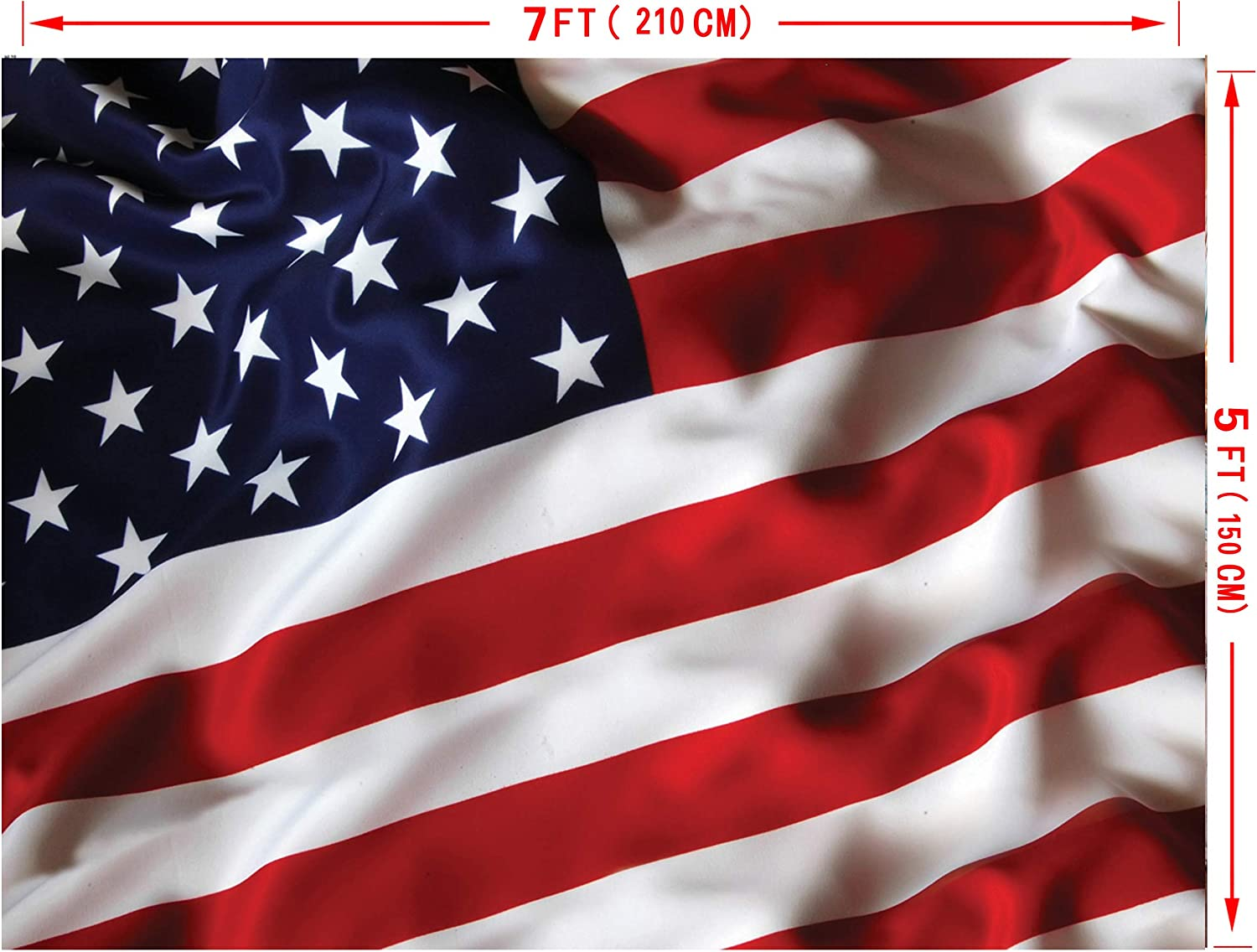 7x10 FT USA Vinyl Photography Backdrop,Fourth of July Independence Day Retro Worn Wooden Looking Democracy Symbol Background for Baby Birthday Party Wedding Graduation Home Decoration