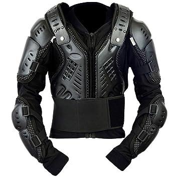 SPEED MAXX LTD Chaleco protector de espinilla para motocicleta, para niños, cobertizos, color negro: Amazon.es: Coche y moto