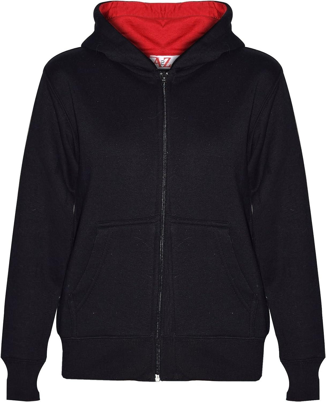 Kids Boys Girls Tracksuit Fleece Black /& Red Hooded Hoodie /& Bottom Jogging Suit