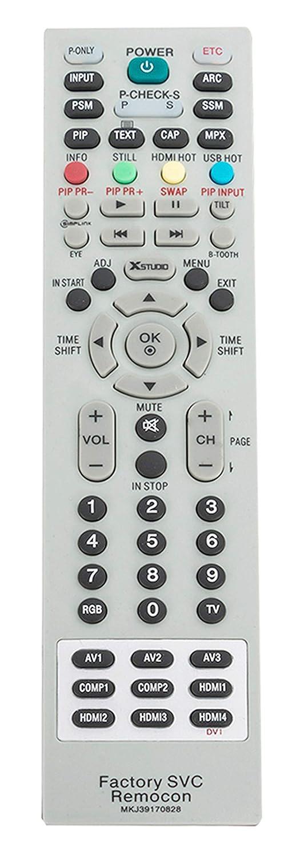VINABTY MKJ39170828 代替サービスリモコン LG LCD LED TV 49UH6500 60UH655060 60UH6550-UB 55UH6550 55UH6550-UB 43UH6500 43UH6500-UB用   B07PQZGXMW