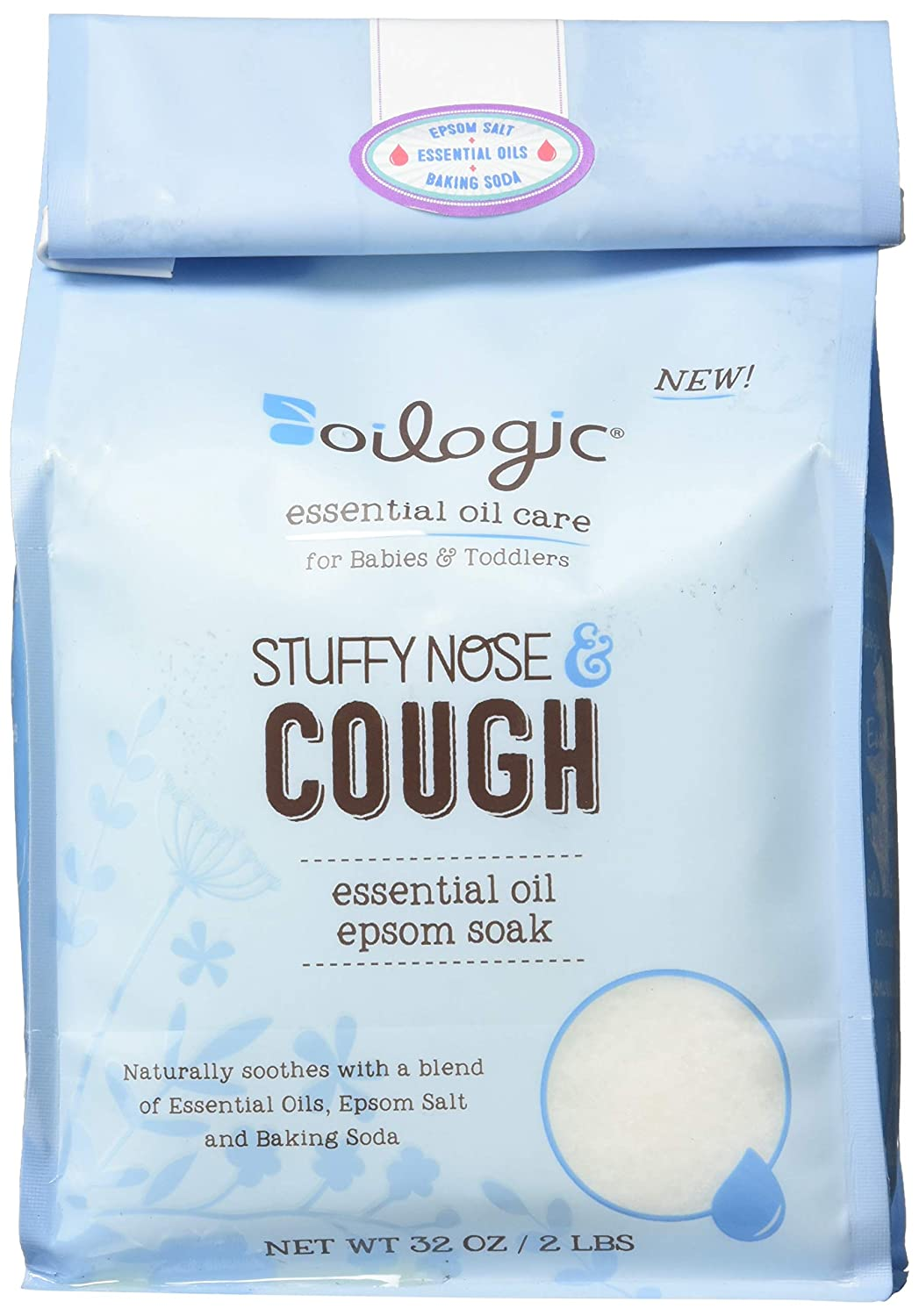 Stuffy Nose & Cough Essential Oil Epsom Soak