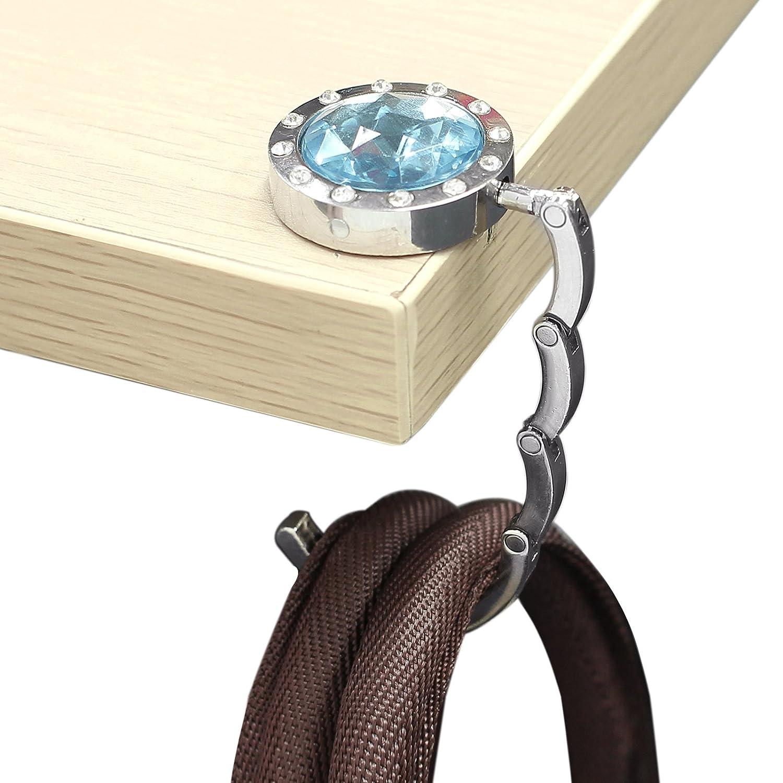 Weight Capacity 11 lbs//5kg Neoteck 10PCS Foldable Purse Hooks Bag Hanger Holder Table Folding Bag Purse for Handbag Umbrella Hook Hanger Holder Weding Birthday Gift