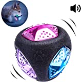 PEDOMUS Light Up Squeak Dog Ball Balls Flash LED Squeaker Ball Dog Toy Interactive Ball for Dogs Bounce-Activated