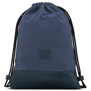 Mochila de Cuerda Azul/Azul Oscuro - Johnny Urban Bolsa de Cuerdas para Hombre Mujer Niños y Adolescentes - Mochilas Cordón de Gimnasio - Bolsa ...