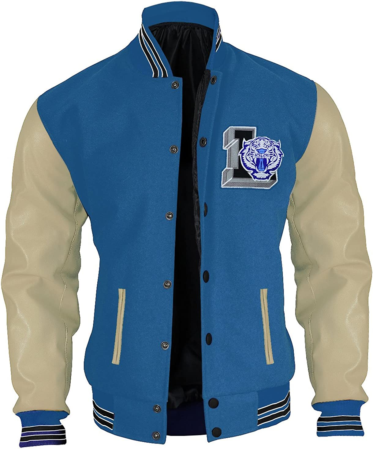 Sky-Seller Mens 13 Liberty Tiger Reasons Bomber Justin Varsity Jacket