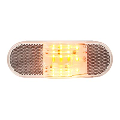 GG Grand General 79996 6 inches Oval Side Amber LED Marker/Turn/Clearance Light w/Reflector for Trucks, Trailers, RVs, Buses, Utility Vehicles: Automotive