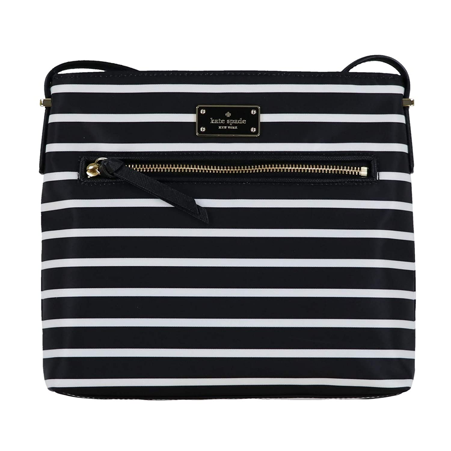 74d818e7059a2 Amazon.com  Kate Spade New York Dessi Wilson Road French Stripe Crossbody  Purse (Black Multi)  Shoes