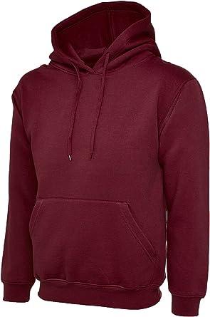 Fruit of The Loom Mens Classic Hoody Hooded Sweatshirt Hoodie Plain 20 Colours