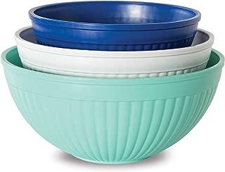 product image for Nordic Ware Prep & Serve Mixing Bowl Set, 3-pc, Set of 3, Coastal Colors