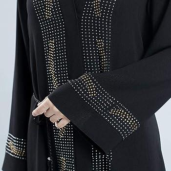 NPRADLA Large Falda Abaya Dubai musulmán Diamante Mujeres ...