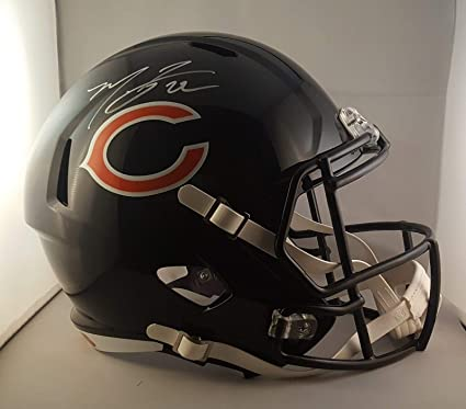 7f0e2915aba Amazon.com  Matt Forte Autographed Signed Full Size Helmet Chicago ...