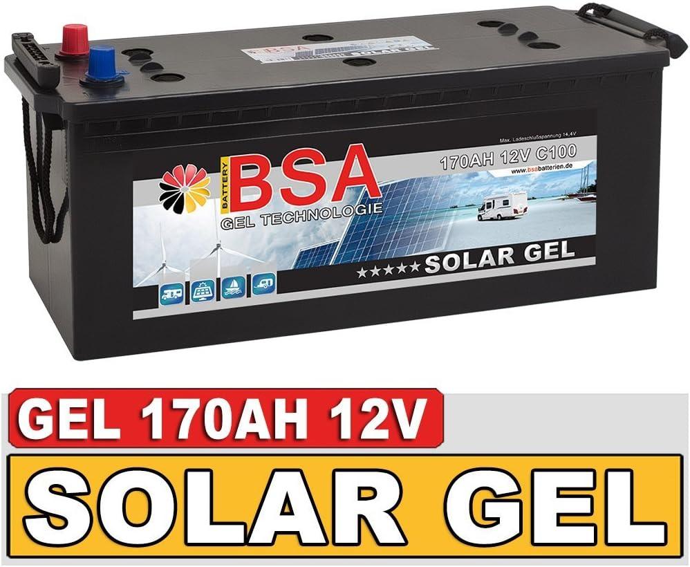 Sonnenschein GEL Batterie 12V 56Ah Solarbatterie Bootsbatterie Wohnmobilbatterie