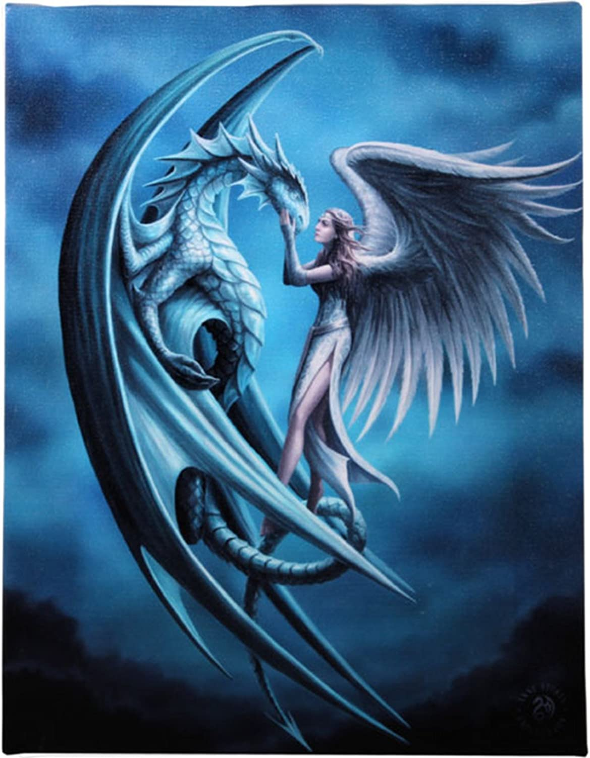 Anne Stokes Canvas Print Once Upon A Time 19x25cm