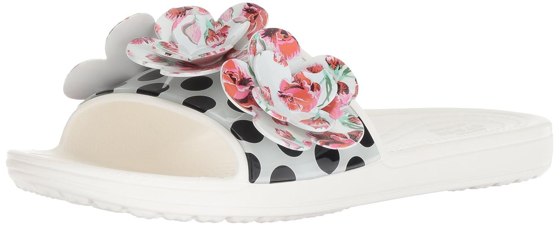 Crocs Women's Sloane Timeless Clash Roses Slide Sandal 205256-100