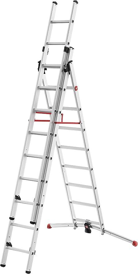 Hailo S100 ProfiLOT - Escalera de Aluminio con Sistema Lot, 2 x 6 ...