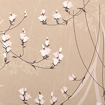 Arthouse Vintage Floral Feature Wallpaper 610101 Lily Motif Charcoal