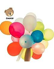 Bastelbär 100 Ballons baudruche Multicolore pour Anniversaire