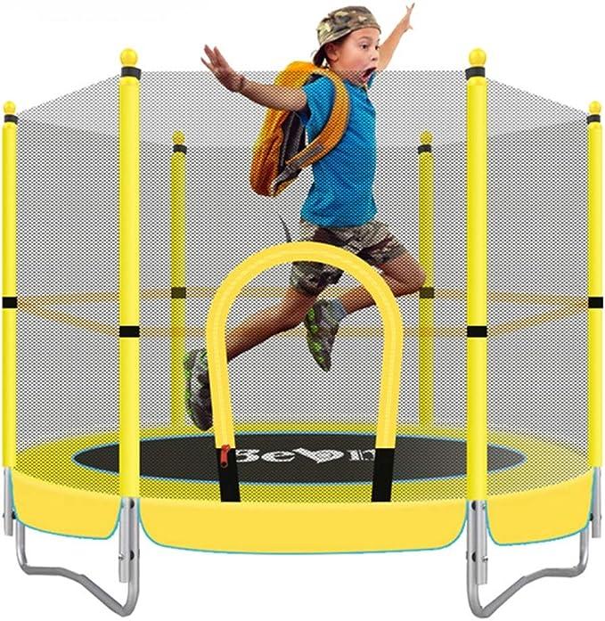 WZFC Cama Elastica Trampolín,Trampolín para Jardin con Red de Seguridad Escalera, Ideal para el jardín para el Regalo de cumpleaños de los niños: Amazon.es: Deportes y aire libre
