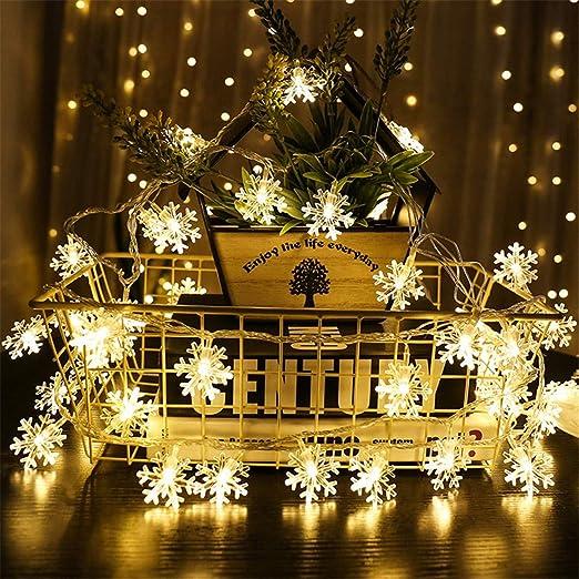 10//40LED 1.5//6M Christmas Snowflake Fairy Lights Christmas Party Wedding Decor