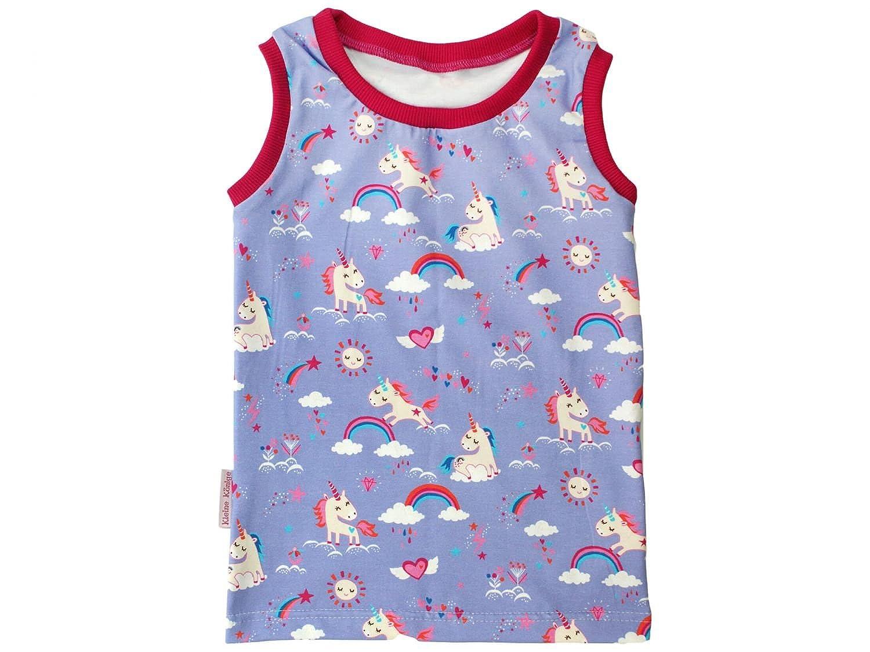 Kleine Könige Kinder T-Shirt Tank-Top Ärmelloses Sommer-Shirt Rainbow-Unicorn von Löwe Regenbogen Einhorn