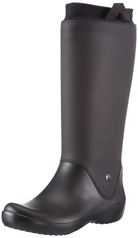 Crocs Women's RainFloe Boot B006TQMIA4 9 M US|Black/Black