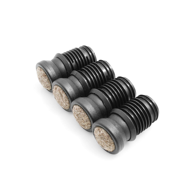 Design61 Stuhlgleiter 4er Set f/ür Rohrinnen-/Ø 14-15 mm Filz M/öbelgleiter Gelenkgleiter Filzgleiter Bodenschutz Bodenschongleiter Zum Einstecken