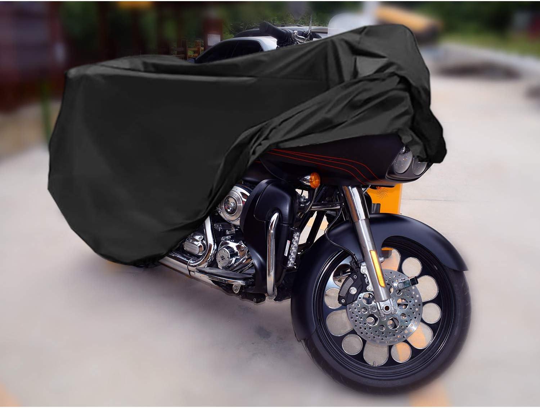 Les Rayons UV R/ésistant aux D/éjections doiseaux /à la Poussi/ère//Neige//Pluie Contre la Salet/é MoKo Housse de Protection pour Moto Couverture Imperm/éable en Oxford au Vent 104x42x50inch /à leau