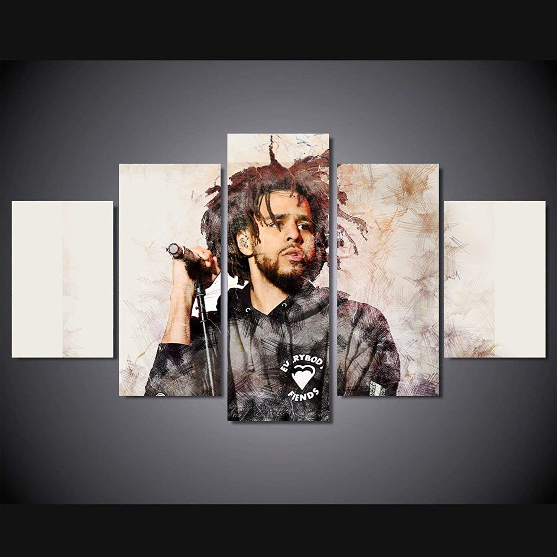 J Cole Album History Canvas Hypebeast Canvas Wall Art Pop Culture Canvas