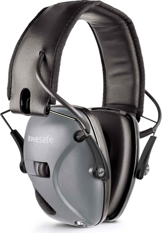 Ideal zum Schie/ßen und Jagen NRR 22 dB awesafe Elektronischer Schie/ß-Ohrensch/ützer Geh/örschutz GF01 L/ärmminderung Klangverst/ärkung Elektronischer Geh/örschutz