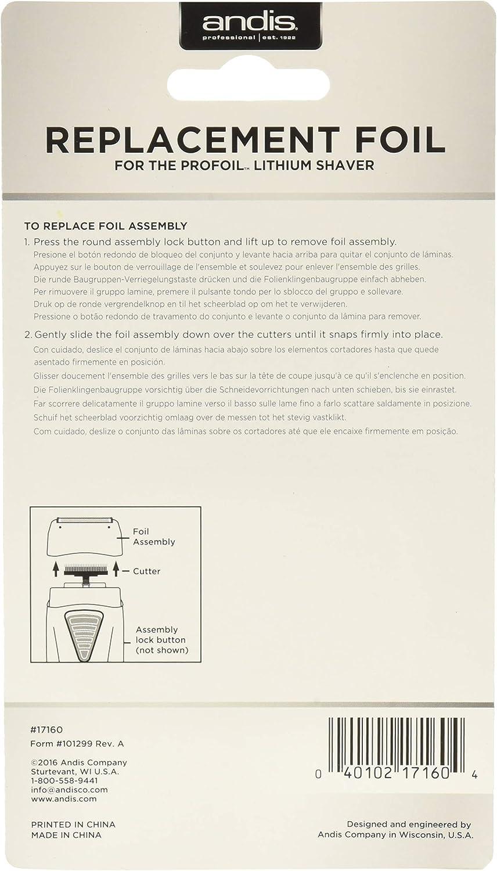 Andis - Lámina de repuesto para Pro Foil Lithium TS-1, 80 g: Amazon.es: Belleza