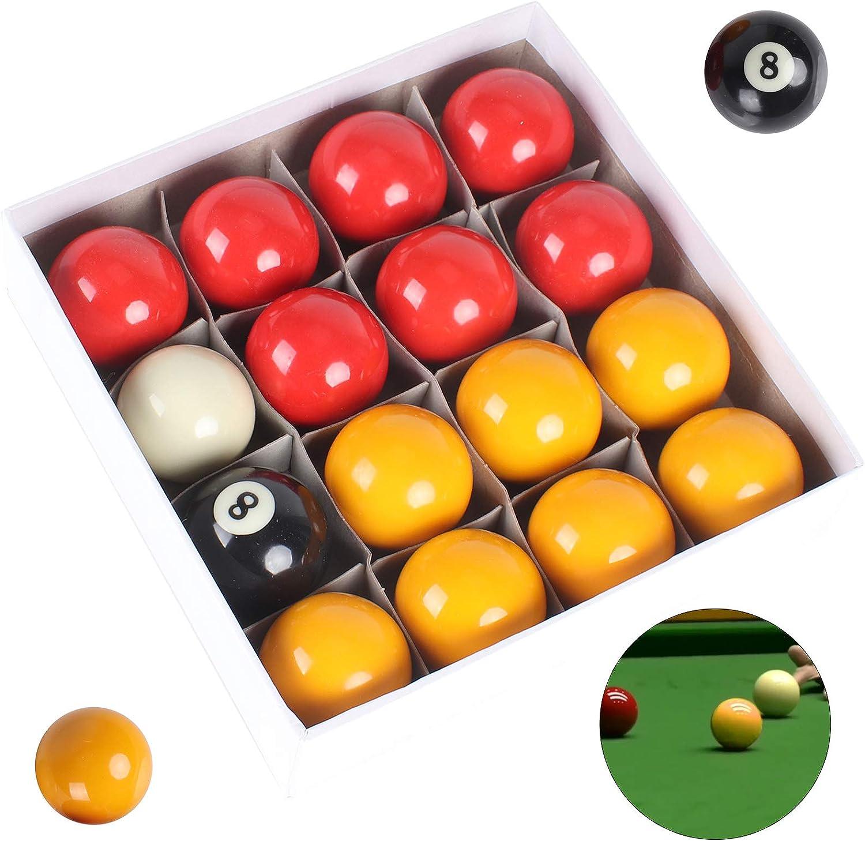 Ballshop - Juego de Pelotas de Billar (tamaño Completo), Color Rojo y Amarillo: Amazon.es: Hogar