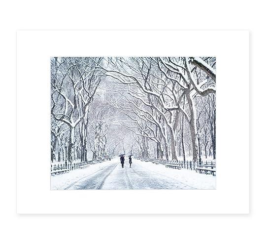 Amazon.com: New York City Wall Art, Central Park in Snow, NYC Decor ...